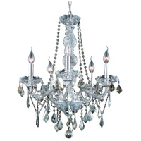 Elegant Lighting Verona 5 Light Dining Chandelier in Chrome with Swarovski Strass Golden Teak Crystal 7855D21C-GT/SS