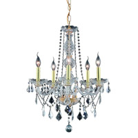 Elegant Lighting 7855D21G/SS Verona 5 Light 21 inch Gold Dining Chandelier Ceiling Light in Clear, Swarovski Strass alternative photo thumbnail