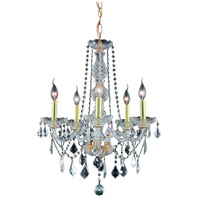 Elegant Lighting Verona 5 Light Dining Chandelier in Gold with Swarovski Strass Clear Crystal 7855D21G/SS