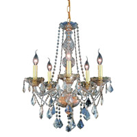 Elegant Lighting Verona 5 Light Dining Chandelier in Golden Shadow with Royal Cut Golden Shadow Crystal 7855D21GS-GS/RC