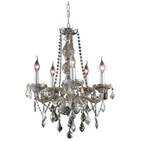 Elegant Lighting Verona 5 Light Dining Chandelier in Golden Teak with Royal Cut Golden Teak Crystal 7855D21GT-GT/RC
