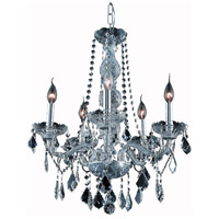 Elegant Lighting V7855D21SS-SS/RC Verona 5 Light 21 inch Silver Shade Dining Chandelier Ceiling Light in Royal Cut