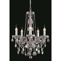 Elegant Lighting Verona 5 Light Dining Chandelier in Silver Shade with Royal Cut Silver Shade Crystal 7855D21SS-SS/RC alternative photo thumbnail