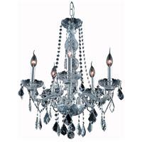 Elegant Lighting V7855D21SS-SS/RC Verona 5 Light 21 inch Silver Shade Dining Chandelier Ceiling Light in Royal Cut