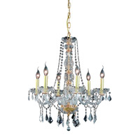 Elegant Lighting Verona 6 Light Dining Chandelier in Gold with Royal Cut Clear Crystal 7856D24G/RC alternative photo thumbnail