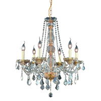 Elegant Lighting Verona 6 Light Dining Chandelier in Golden Shadow with Swarovski Strass Golden Shadow Crystal 7856D24GS-GS/SS alternative photo thumbnail