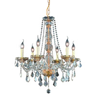 Elegant Lighting Verona 6 Light Dining Chandelier in Golden Shadow with Royal Cut Golden Shadow Crystal 7856D24GS-GS/RC