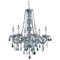 Elegant Lighting Verona 6 Light Dining Chandelier in Silver Shade with Royal Cut Silver Shade Crystal 7856D24SS-SS/RC