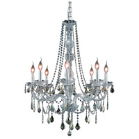 Elegant Lighting Verona 8 Light Dining Chandelier in Chrome with Royal Cut Golden Teak Crystal 7858D28C-GT/RC