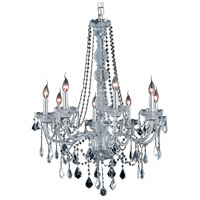 Elegant Lighting Verona 8 Light Dining Chandelier in Chrome with Elegant Cut Clear Crystal 7858D28C/EC