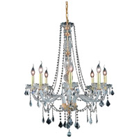 Elegant Lighting Verona 8 Light Dining Chandelier in Gold with Swarovski Strass Clear Crystal 7858D28G/SS