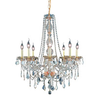 Elegant Lighting Verona 8 Light Dining Chandelier in Golden Shadow with Swarovski Strass Golden Shadow Crystal 7858D28GS-GS/SS