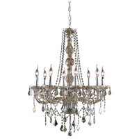 Elegant Lighting V7858D28GT-GT/RC Verona 8 Light 28 inch Golden Teak Dining Chandelier Ceiling Light in Royal Cut