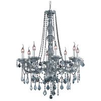 Elegant Lighting V7858D28SS-SS/RC Verona 8 Light 28 inch Silver Shade Dining Chandelier Ceiling Light in Royal Cut photo thumbnail