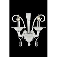 Elegant Lighting Muse 2 Light Wall Sconce in White with Swarovski Strass Clear Crystal 7862W2WH/SS alternative photo thumbnail