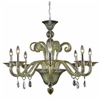 Muse 8 Light 36 inch Yellow Dining Chandelier Ceiling Light in Golden Shadow, Swarovski Strass