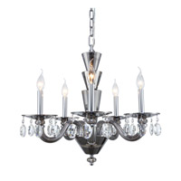 Elegant Lighting 7870D23SS/RC Augusta 5 Light 23 inch Silver Shade Chandelier Ceiling Light Urban Classic