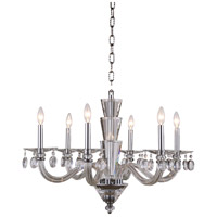 Elegant Lighting 7870D29C/RC Augusta 6 Light 30 inch Chrome Pendant Ceiling Light