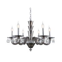 Elegant Lighting 7870D29SS/RC Augusta 6 Light 30 inch Silver Shade Chandelier Ceiling Light Urban Classic