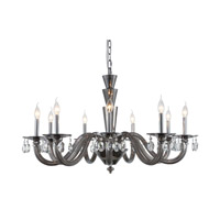 Elegant Lighting 7870G39SS/RC Augusta 9 Light 39 inch Silver Shade Chandelier Ceiling Light Urban Classic
