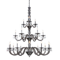 Elegant Lighting 7870G52SS/RC Augusta 21 Light 52 inch Silver Shade Chandelier Ceiling Light Urban Classic