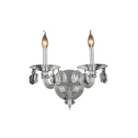 Augusta 2 Light 15 inch Chrome Wall Sconce Wall Light
