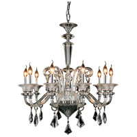 Elegant Lighting 7871D32C/RC Aurora 10 Light 32 inch Chrome Pendant Ceiling Light