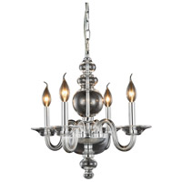 Elegant Lighting 7872D17C Champlain 4 Light 18 inch Chrome Pendant Ceiling Light