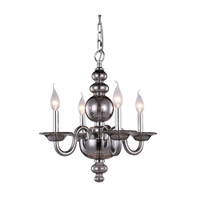Elegant Lighting 7872D17SS Champlain 4 Light 18 inch Silver Shade Pendant Ceiling Light