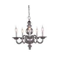 Elegant Lighting 7872D20SS Champlain 5 Light 20 inch Silver Shade Pendant Ceiling Light