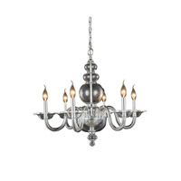 Elegant Lighting 7872D27C Champlain 6 Light 27 inch Chrome Pendant Ceiling Light