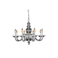 Elegant Lighting 7872D30C Champlain 8 Light 30 inch Chrome Pendant Ceiling Light