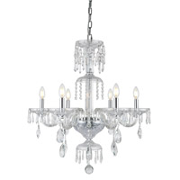 Elegant Lighting 7873D27C/RC Elliott 6 Light 27 inch Chrome Chandelier Ceiling Light Urban Classic