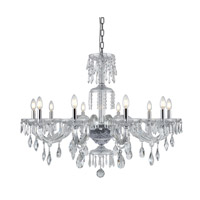 Elegant Lighting 7873G38C/RC Elliott 10 Light 38 inch Chrome Chandelier Ceiling Light Urban Classic