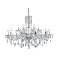 Elegant Lighting 7873G45C/RC Elliott 18 Light 45 inch Chrome Chandelier Ceiling Light Urban Classic
