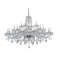 Elliott 28 Light 54 inch Chrome Chandelier Ceiling Light, Urban Classic