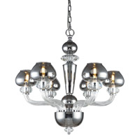Elegant Lighting 7874D26SS Prescott 6 Light 26 inch Silver Shade Chandelier Ceiling Light Urban Classic