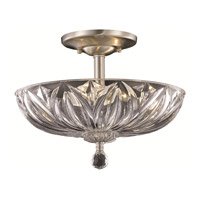 Elegant Lighting Ornate 3 Light Flush Mount in Chrome with Royal Cut Clear Crystal 7880F12C/RC