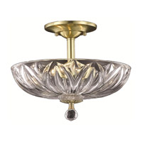 Elegant Lighting Ornate 3 Light Flush Mount in Gold with Royal Cut Clear Crystal 7880F12G/RC