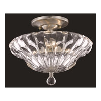 Elegant Lighting Ornate 3 Light Flush Mount in Chrome with Royal Cut Clear Crystal 7881F12C/RC - Open Box