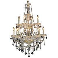Elegant Lighting V7890D28G/RC Giselle 12 Light 28 inch Gold Dining Chandelier Ceiling Light