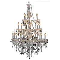 Elegant Lighting Giselle 21 Light Foyer in Chrome with Royal Cut Clear Crystal 7890G38C/RC