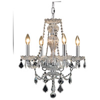 Elegant Lighting Giselle 4 Light Dining Chandelier in Chrome with Royal Cut Clear Crystal 7894D20C/RC