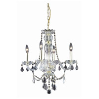 Elegant Lighting Giselle 4 Light Dining Chandelier in Gold with Royal Cut Clear Crystal 7894D20G/RC