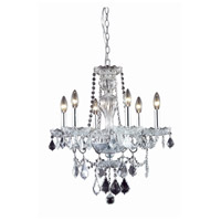 Elegant Lighting 7896D21C/RC Giselle 6 Light 21 inch Chrome Dining Chandelier Ceiling Light