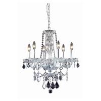 Elegant Lighting 7896D21C/RC Giselle 6 Light 21 inch Chrome Dining Chandelier Ceiling Light