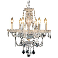Elegant Lighting V7896D21G/RC Giselle 6 Light 21 inch Gold Dining Chandelier Ceiling Light