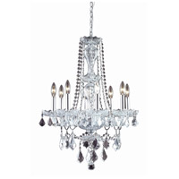 Elegant Lighting Giselle 8 Light Dining Chandelier in Chrome with Royal Cut Clear Crystal 7898D21C/RC