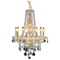 Elegant Lighting Giselle 8 Light Dining Chandelier in Gold with Royal Cut Clear Crystal 7898D21G/RC