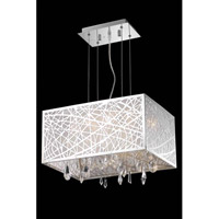 Elegant Lighting Mirage 3 Light Pendant in Chrome with Royal Cut Clear Crystal 7901D17C/RC